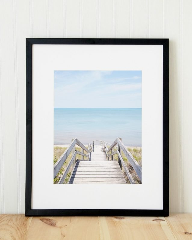Pinery Steps Beach #1 Vertical - Canadian Art Print