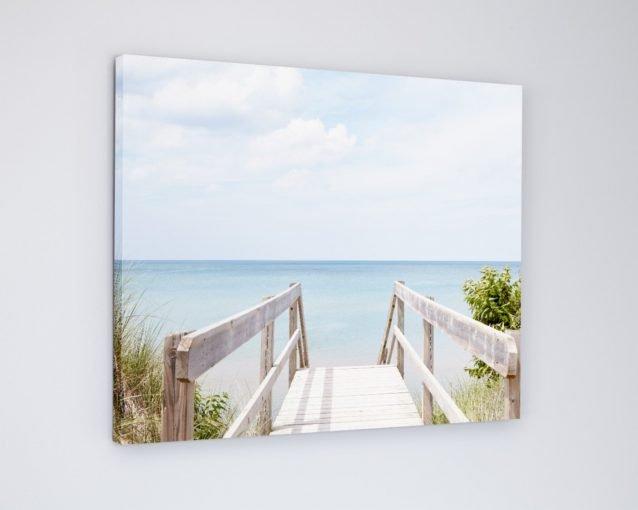 Pinery Steps Beach #9 - Coastal Landscape Photography Canvas