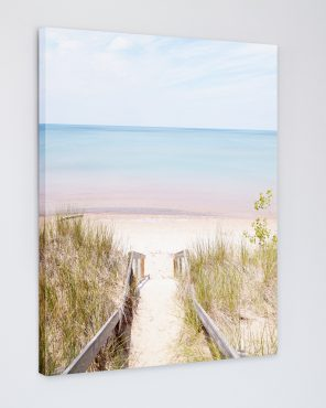 Pinery Steps Beach #3 Vertical - Coastal Canvas Picture