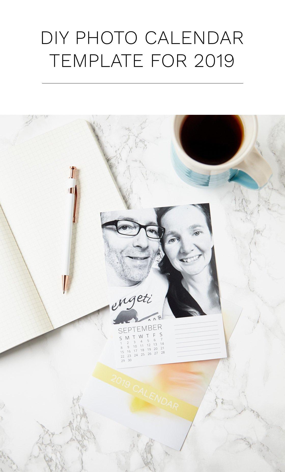 Diy Photo Calendar Template For 2019 Designed For Photoshop