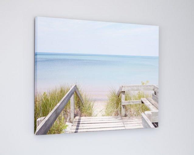 Pinery Steps Beach #3 Horizontal - Lake Huron Beach Photography Canvas