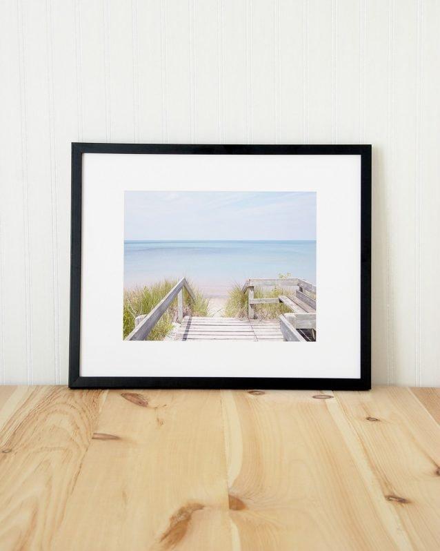 Pinery Steps Beach #3 Horizontal - Lake Huron Beach Photography