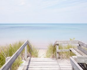 Pinery Steps Beach #3 Horizontal - Lake Huron Beach Photography