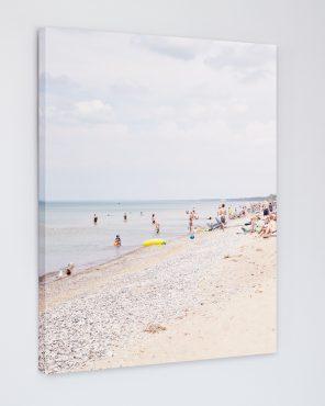 Pinery Sunbathers - Pinery Beach Photo Canvas