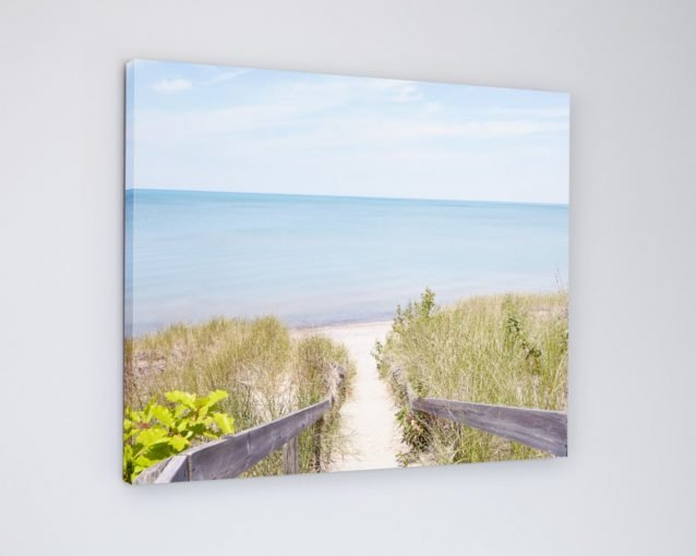 Pinery Steps Beach #2 Horizontal - Pinery Lake Huron Beach Canvas Print