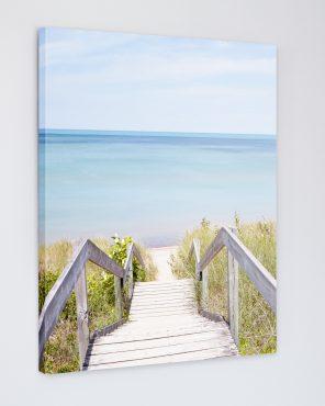 Pinery Steps Beach #2 Vertical - Canada Canvas Print