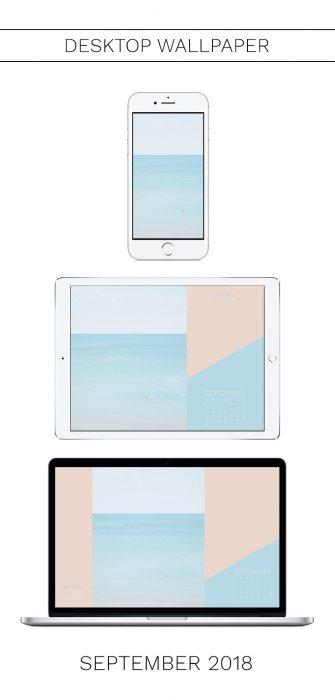 September 2018 Calendar - Beach Wallpaper for iPhone and Desktop