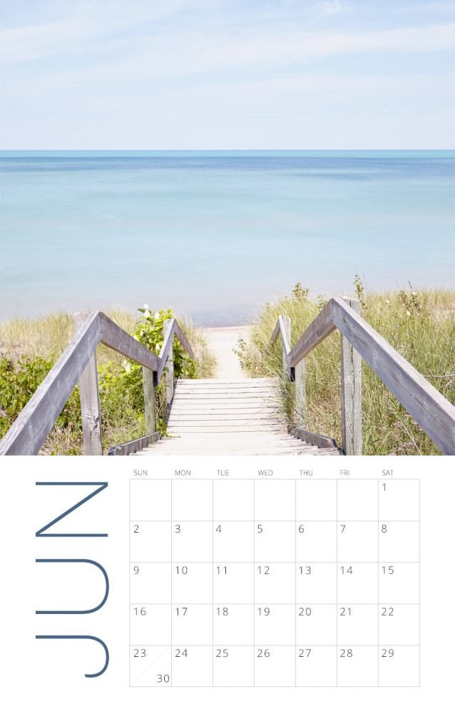 2019 Wall Calendar - Soothing Beach Photography