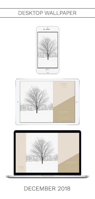 December 2018 Wallpaper with Calendar for iPhone and Desktop