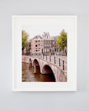 The Emperor's Canal - Framed Amsterdam Bridge Photo