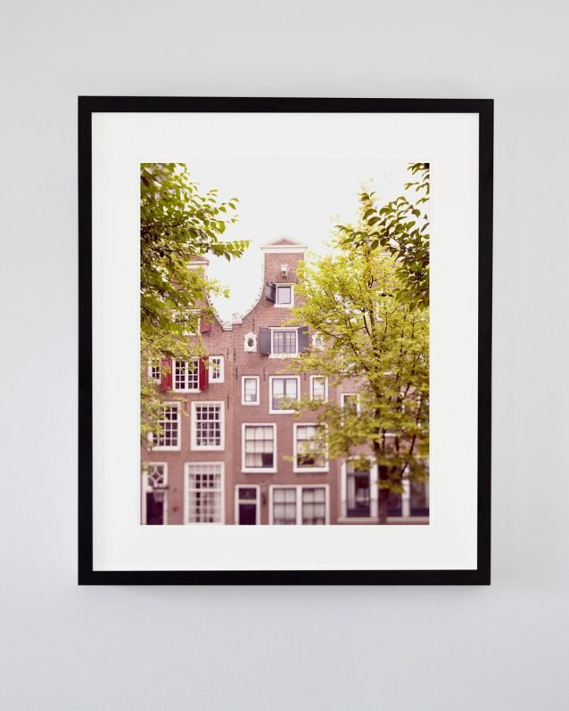 The Ox Peers Through the Trees - Framed Amsterdam City Wall Art