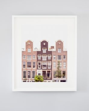 Lean On Me - Framed Amsterdam Houses Picture