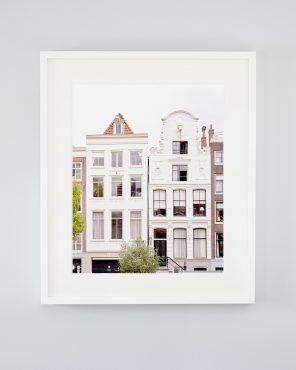 Flowers in Her Hair - Framed Architectural Amsterdam Image Art Print