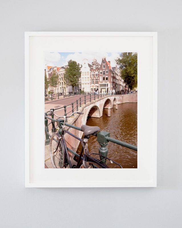 Ryan Rode Into Town - Framed Amsterdam Photo with Bicycle