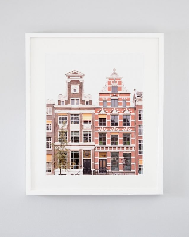 She Bats Her Lashes and Smiles Hello - Framed Amsterdam Picture