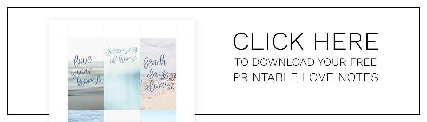 Printable interior design inspired love notes and thank you cards