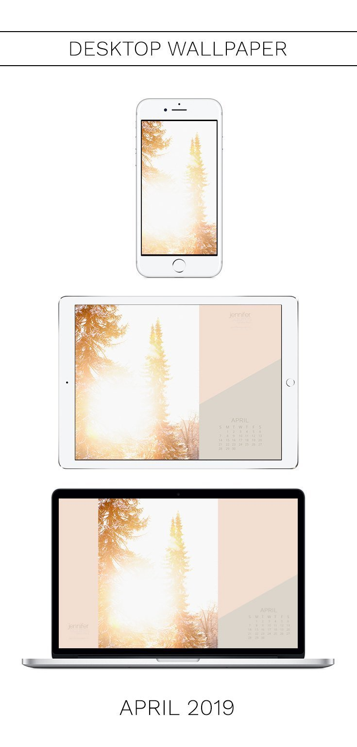 April 2019 Wallpaper with Calendar for iPhone and Desktop