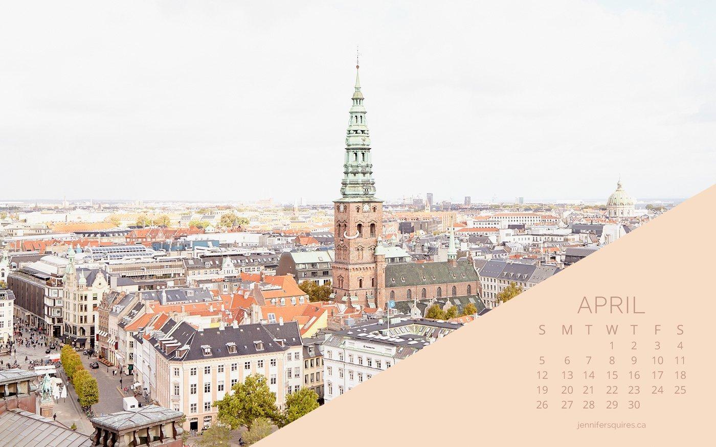 April 2020 Desktop And Iphone Wallpaper Copenhagen Skyline